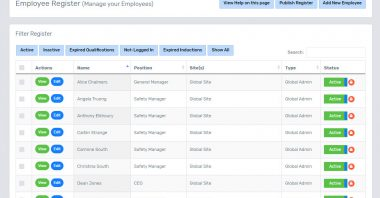 Employee Register